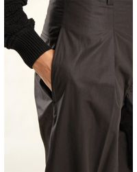 Isabel Marant - Black Hexi High Rise Coated Cotton Trousers - Lyst