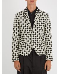 Haider Ackermann - Black Cross-pattern Single-breasted Wool-blend Blazer for Men - Lyst