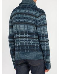 RRL - Blue Shawl-collar Cardigan for Men - Lyst