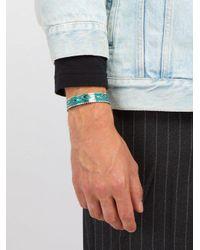 Gucci - Metallic - Garden Enamel And Sterling Silver Cuff Bracelet - Mens - Silver for Men - Lyst