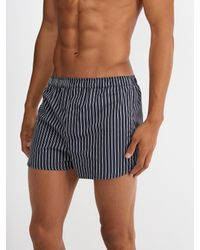 Derek Rose - Blue Royal Striped Cotton Boxer Shorts for Men - Lyst