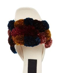 Sanayi 313 - Multicolor Pompom-embellished Canvas Slippers - Lyst