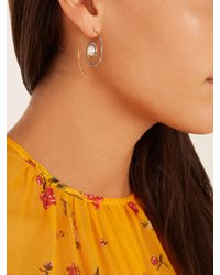 Noor Fares - Metallic Diamond, Pearl & Yellow-gold Earrings - Lyst