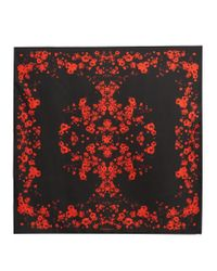 Givenchy - Multicolor Floral-print Silk-twill Scarf - Lyst