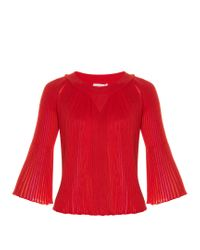 Sonia Rykiel | Multicoloured-insert Pleated Sweater | Lyst