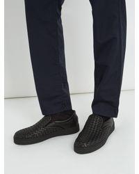 Bottega Veneta - Black Dodger Ii Slip-on Sneaker for Men - Lyst