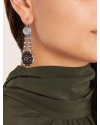 Bottega Veneta - Red Stone Drop Earrings - Lyst