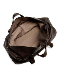 Bottega Veneta - Brown Leather Holdall for Men - Lyst