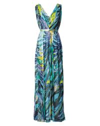 Matthew Williamson | Blue Lotus Silksatin Maxi Dress | Lyst