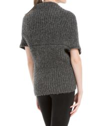 Leon Max - Gray Wrap Cocoon Sweater - Lyst
