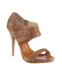 Leon Max | Natural Woven Leather Platform Sandals | Lyst