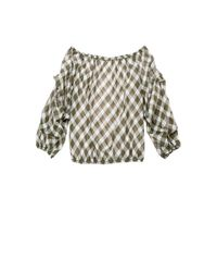 Leon Max - Multicolor Check Off-the-shoulder Top - Lyst