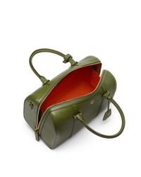 MCM - Green Essential Boston Bag In Calfskin Leather - Lyst