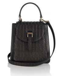 meli melo - Floriana Mini Cross Body Bag Black Woven - Lyst
