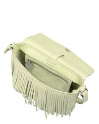 meli melo - Yellow Maisie Cross Body Bag Lime Fringing - Lyst