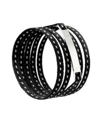 Ursul | Le Lacet Parisien Black Cotton Lace-up Bracelet for Men | Lyst