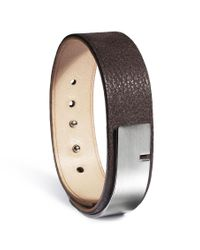 Ursul | U-turn Medium Grainy Brown Leather Bracelet for Men | Lyst