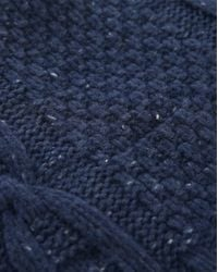 SELECTED | Mottled-blue Shkenny Cable-knit Scarf for Men | Lyst