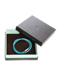 Tateossian | Blue Leather Double Bracelet Menlook 5-year Exclusive for Men | Lyst