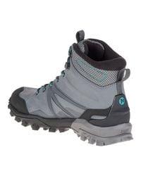 Merrell - Gray Capra Glacial Ice+ Mid Waterproof for Men - Lyst
