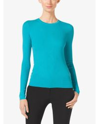 Michael Kors | Blue Featherweight Cashmere Sweater | Lyst