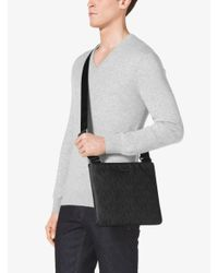 Michael Kors - Black Jet Set Logo Crossbody for Men - Lyst