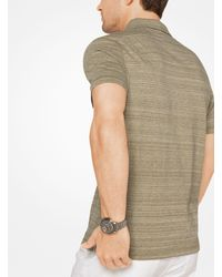 Michael Kors - Multicolor Space-dyed Cotton Polo Shirt for Men - Lyst