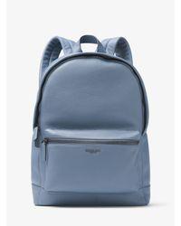 Michael Kors - Blue Bryant Leather Backpack for Men - Lyst