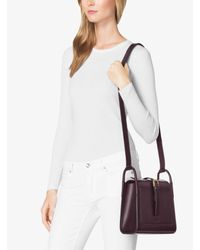 Michael Kors | Purple Brackley Medium Leather Pocket Crossbody | Lyst