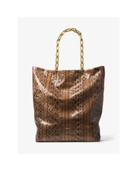 Michael Kors | Multicolor Angelina Extra-large Snakeskin Tote | Lyst