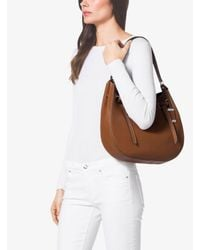 Michael Kors - Brown Rogers Large Leather Shoulder Bag - Lyst