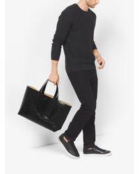 Michael Kors | Black Mason Reversible Embossed-leather Tote for Men | Lyst