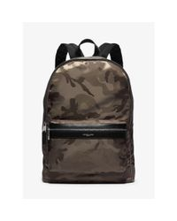 Michael Kors | Green Kent Camouflage Nylon Jacquard Backpack for Men | Lyst