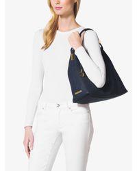 Michael Kors - Black Skorpios Large Pebbled Leather Shoulder Bag - Lyst