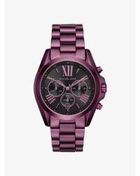 Michael Kors - Purple Bradshaw Plum-tone Watch - Lyst