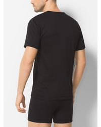 Michael Kors - Black 3-pack Crewneck Cotton T-shirt for Men - Lyst