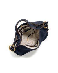 Michael Kors | Blue Astor Leather Shoulder Bag | Lyst
