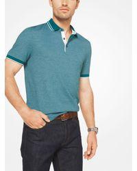 Michael Kors - Blue Cotton Polo Shirt for Men - Lyst