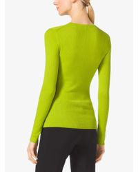 Michael Kors - Green Featherweight Cashmere Sweater - Lyst