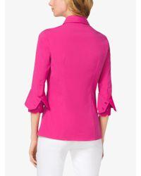 Michael Kors - Pink Double-Cuff Cotton-Poplin Shirt - Lyst