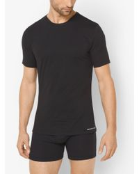 Michael Kors - Multicolor 3-pack Crewneck Cotton T-shirt for Men - Lyst