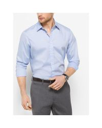 Michael Kors | Blue Tailored-fit Stretch-cotton Shirt for Men | Lyst