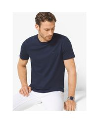 Michael Kors | Blue Cotton Crewneck T-shirt for Men | Lyst