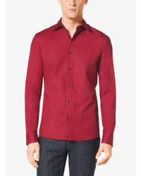 Michael Kors - Tailored-fit Stretch-cotton Shirt for Men - Lyst