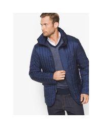 Michael Kors | Blue Nylon Funnel-neck Jacket for Men | Lyst
