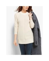 Michael Kors | Natural Ribbed Merino Wool And Cashmere Sweater | Lyst