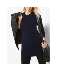 Michael Kors | Blue Ribbed Merino Wool And Cashmere Sweater | Lyst