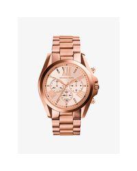 Michael Kors | Pink Oversized Bradshaw Rose Gold-tone Watch | Lyst