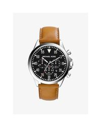 Michael Kors   Metallic Gage Silver-tone Leather Watch for Men   Lyst