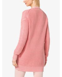 Michael Kors - Pink Cotton Cardigan - Lyst